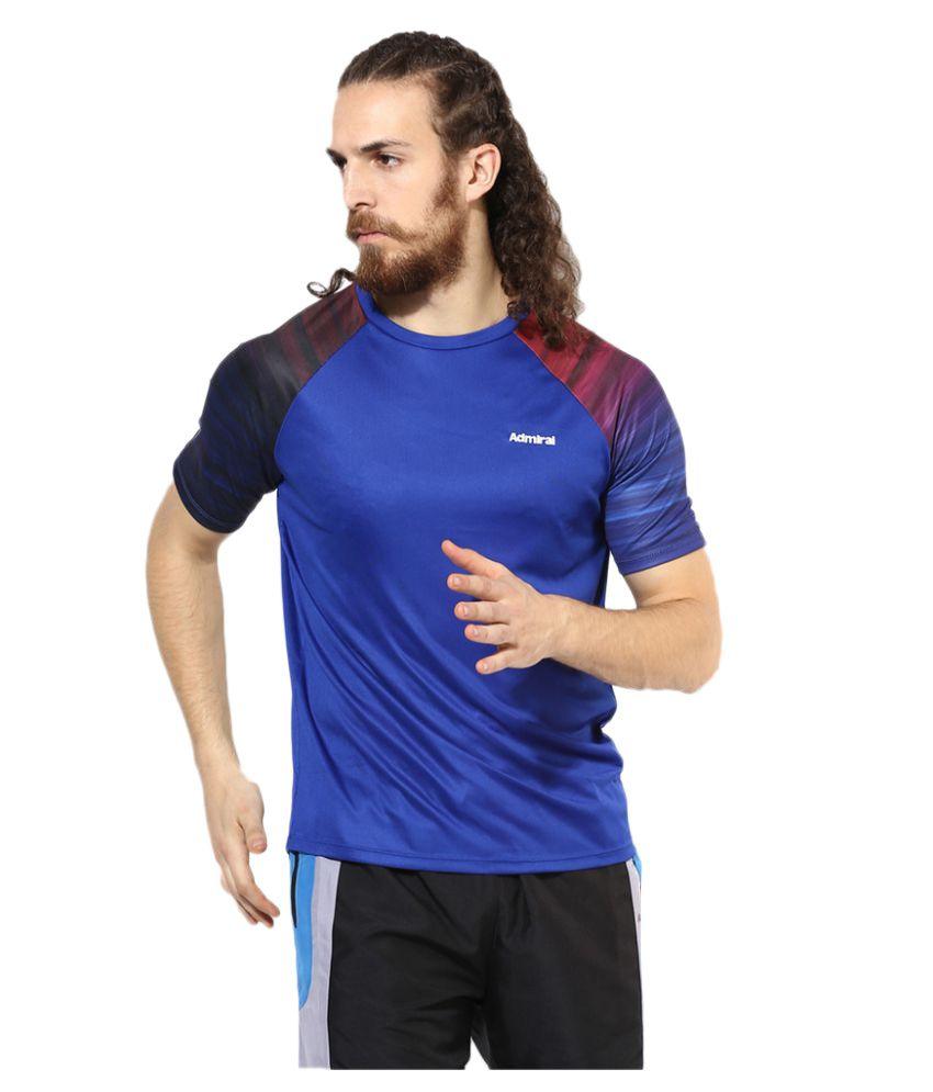 Admiral Blue Polyester T-Shirt