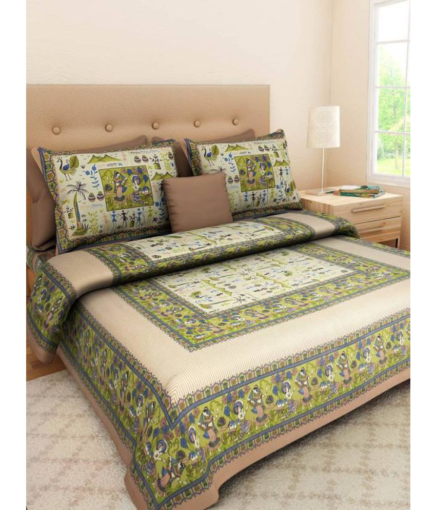 Samradhi Double Cotton Multicolor Printed Bed Sheet