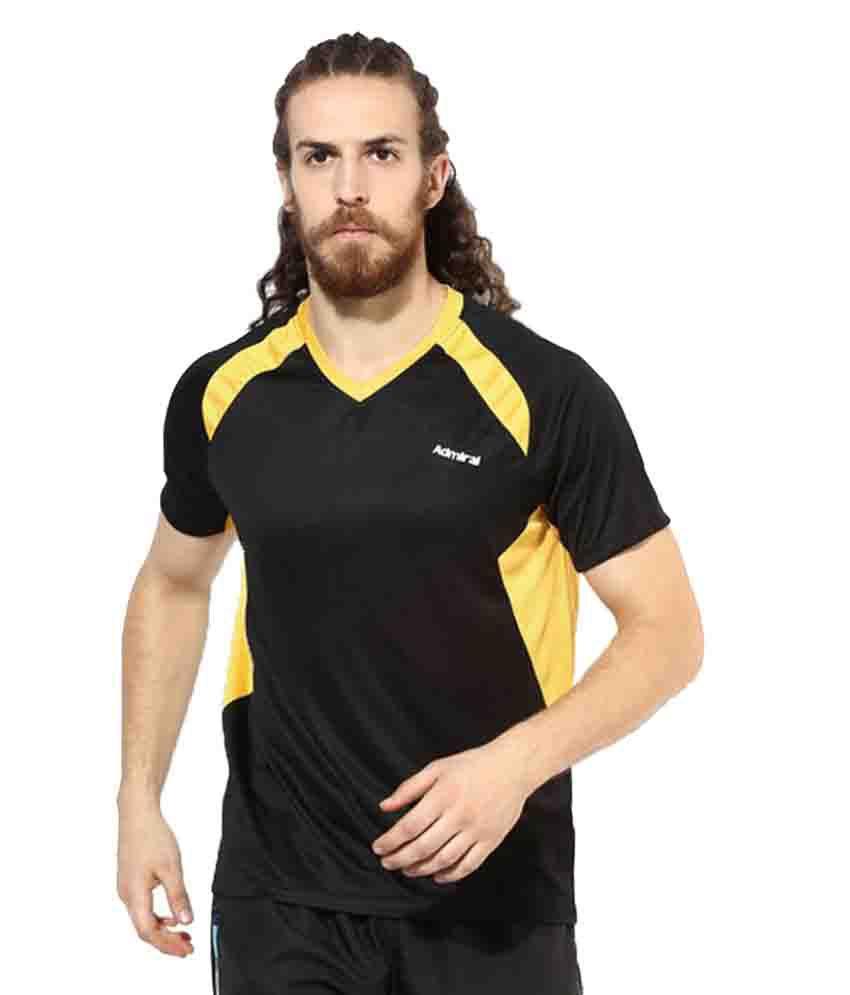 Admiral Black Polyester T-Shirt