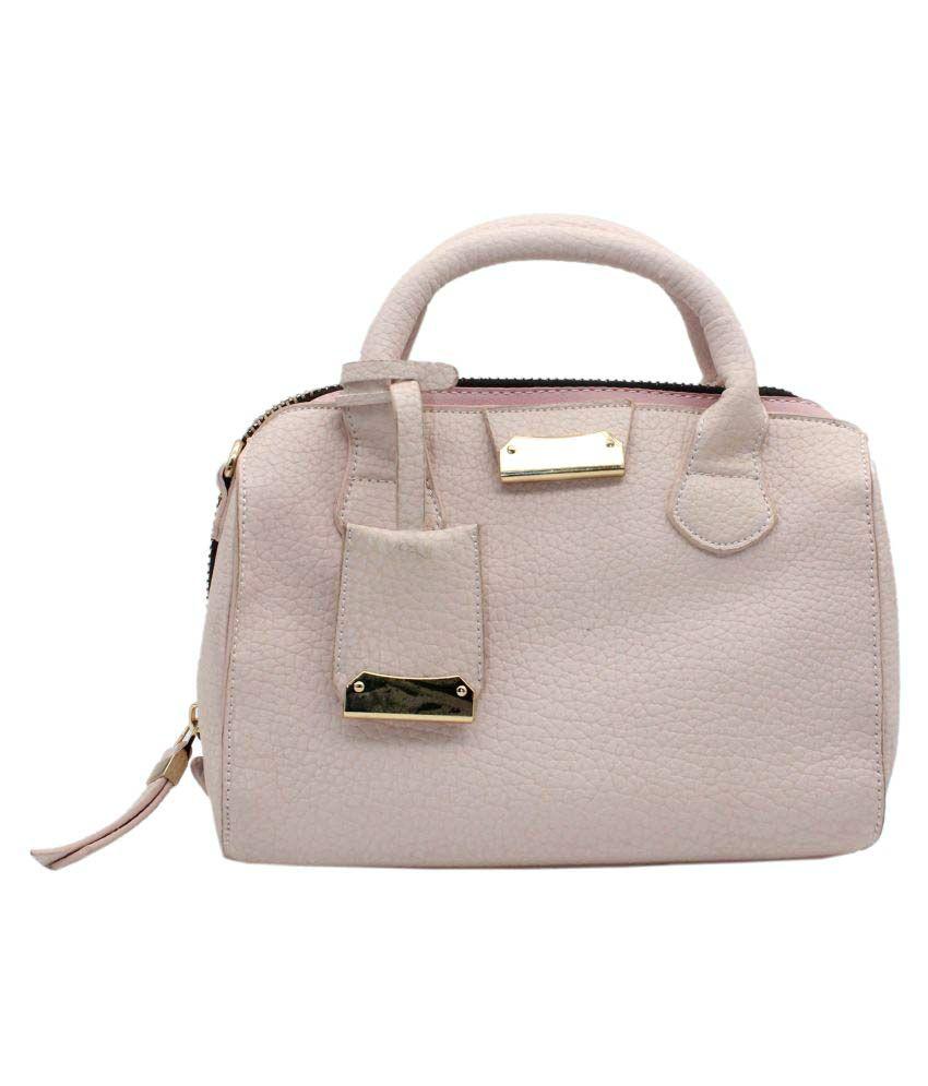 Trendy Pink P.U. Handheld