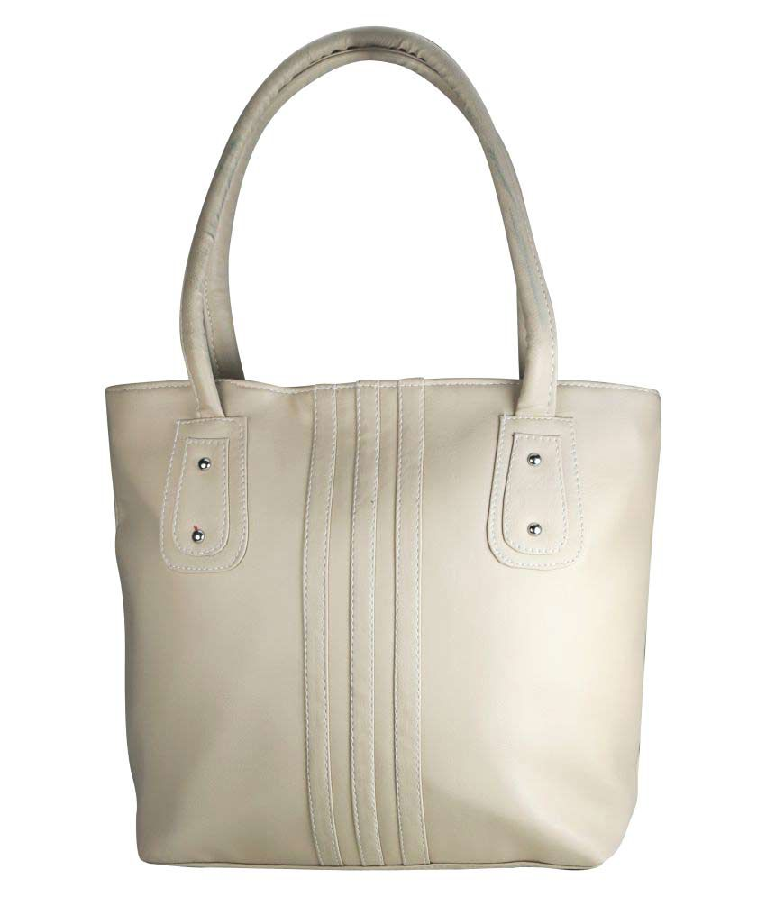 Crude White Faux Leather Shoulder Bag