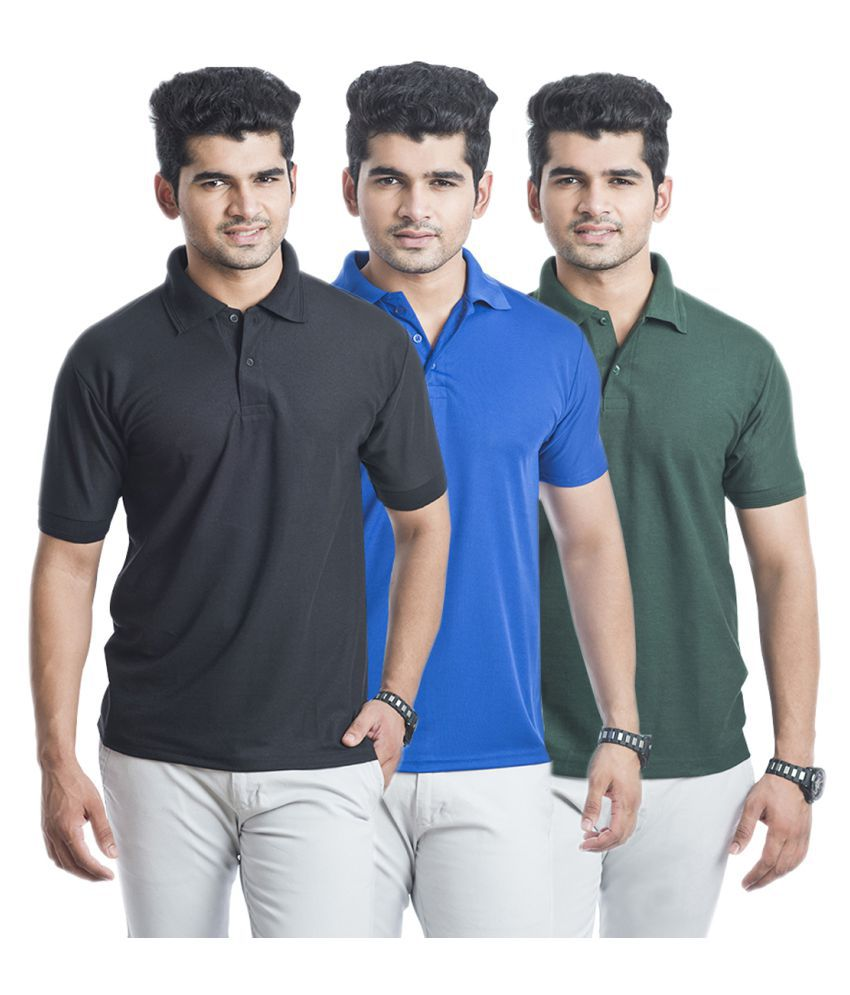 Akaira Multi Cotton Blend Polo T-Shirt Pack of 3