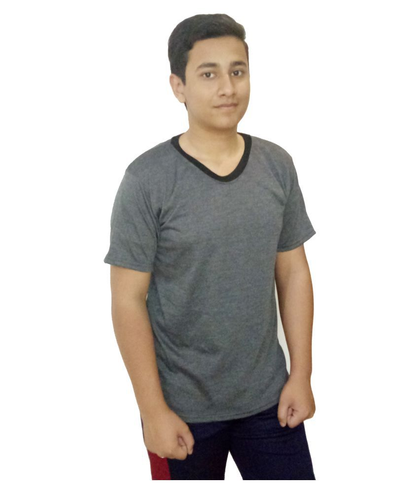 Metro Plus Grey V-Neck T-Shirt