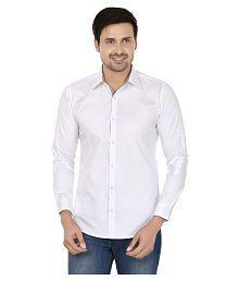 N&CM White Casuals Slim Fit Shirt