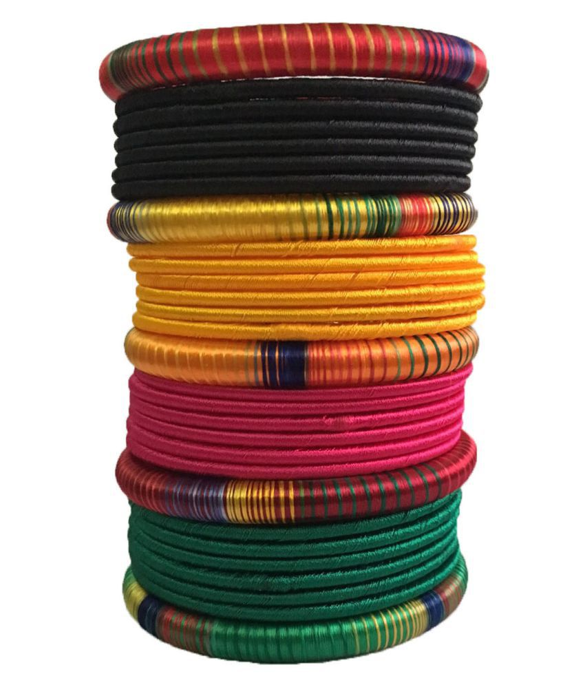 Thirsty Guys Multi Colour Bangle Set