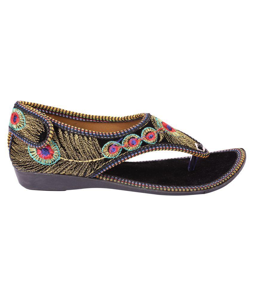 Top Choice Multi Color Flat Heels