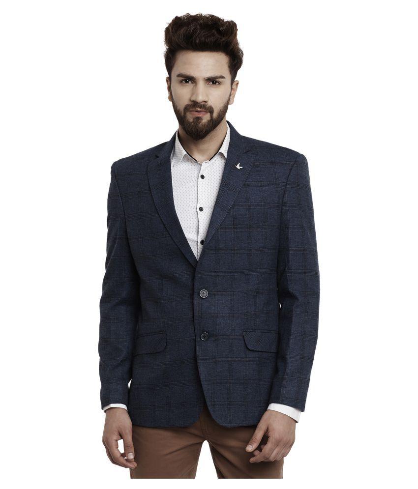 Canary London Blue Checks Casual Blazers