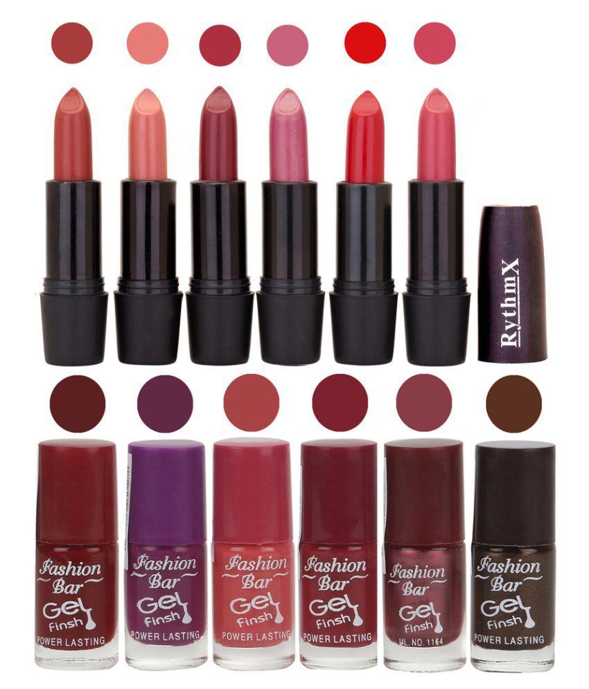 Fashion Bar Nail Polish Kit and Matte Lipstick 2 in 1 Combo Matte 6 ml