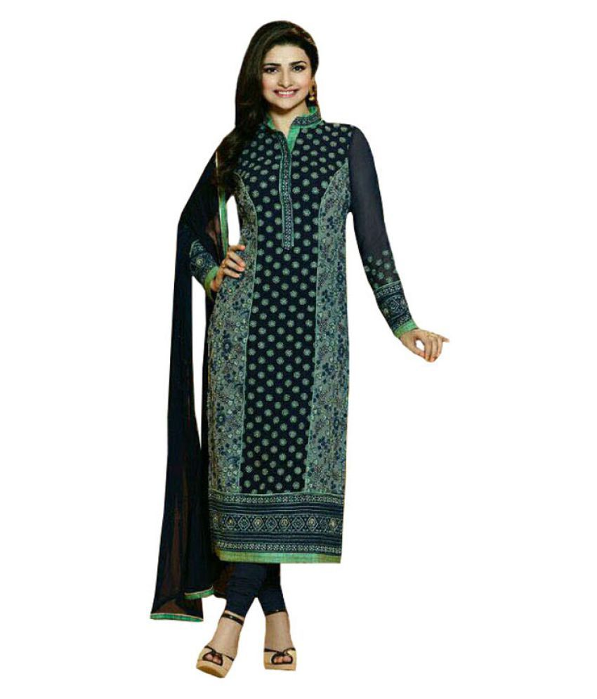 Vbuyz Multicoloured Georgette Dress Material