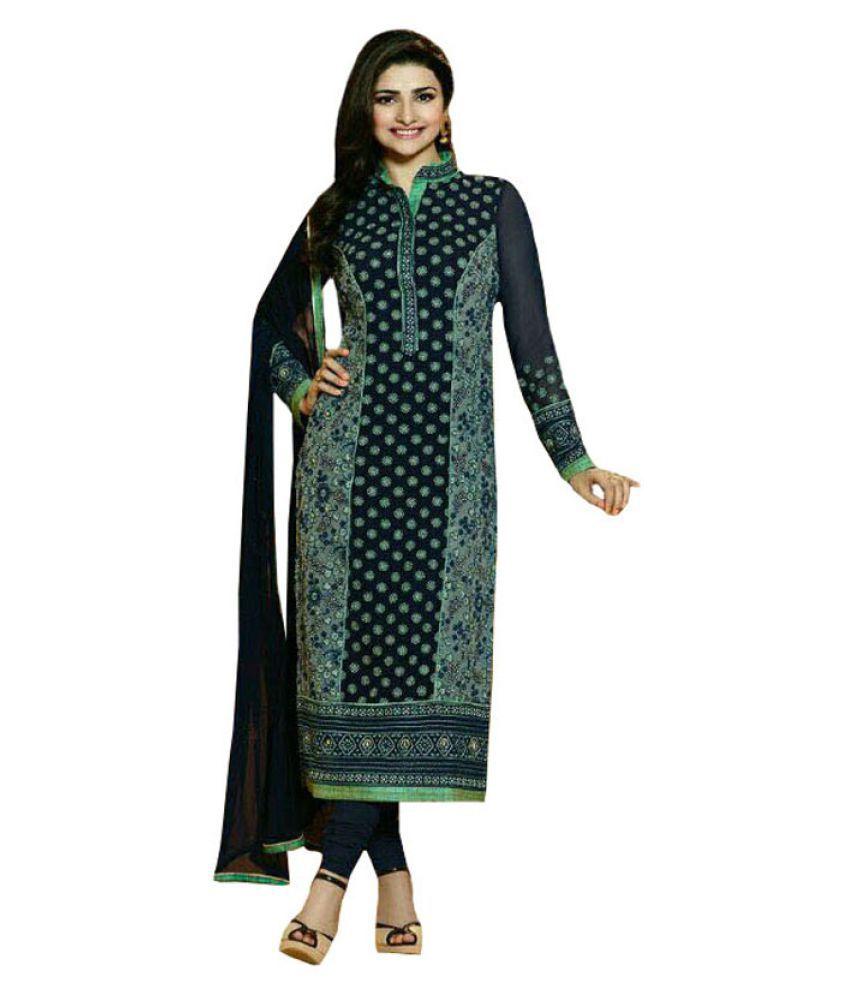 Vbuyz Multicoloured Georgette Dress Material