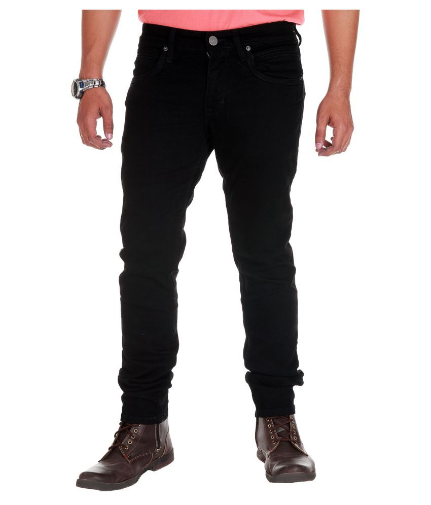 Fly Craft Black Slim Jeans