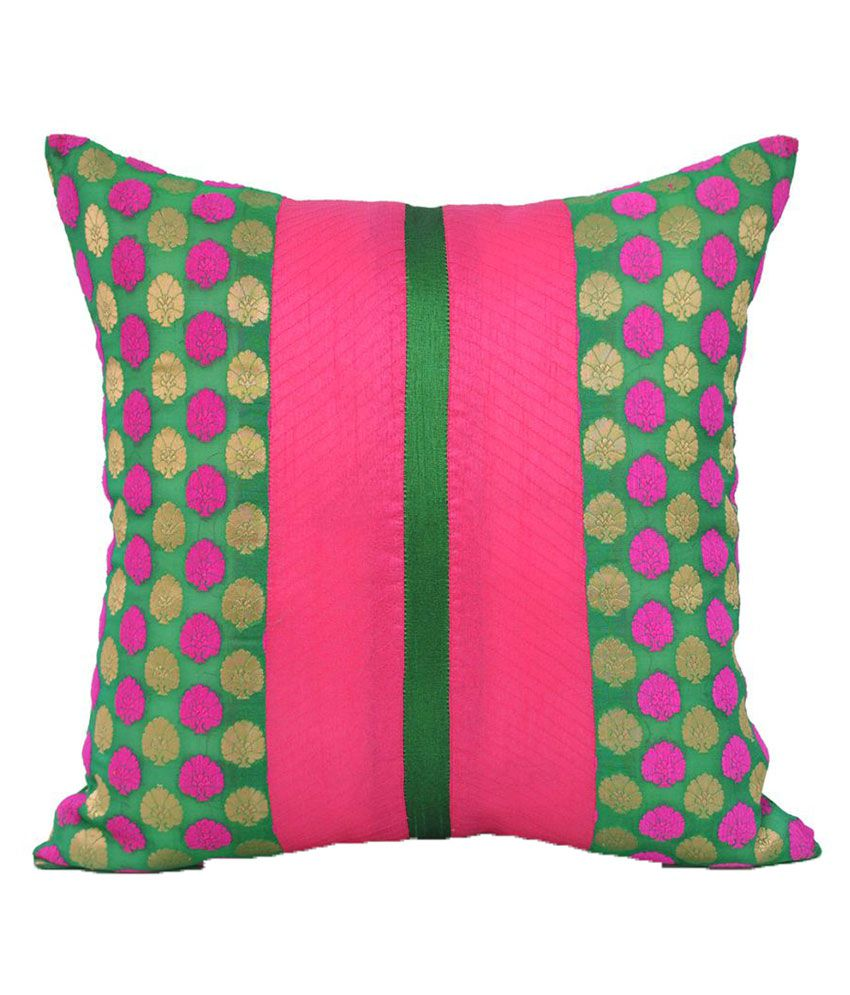 Jagdish Store Single Polyester Cushion Covers 40X40 cm (16X16)