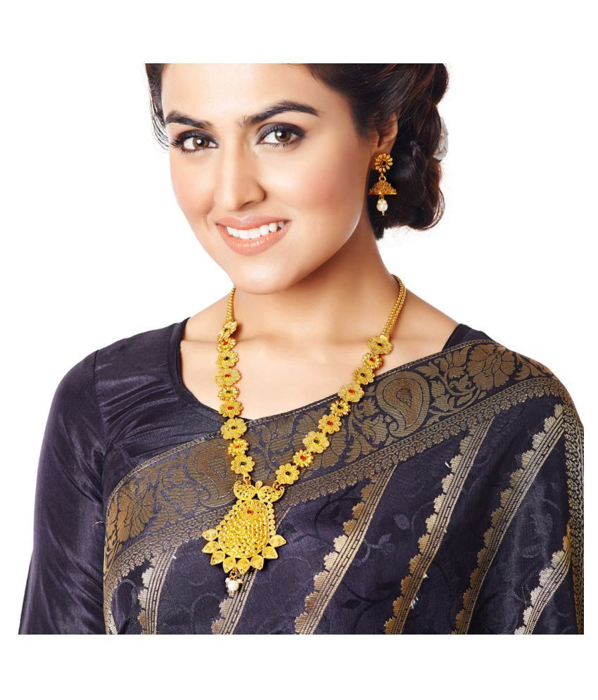 RG Fashions Golden Necklace Set