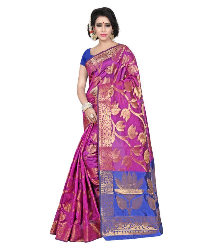 Saloni Designer Pink Banarasi Silk Saree