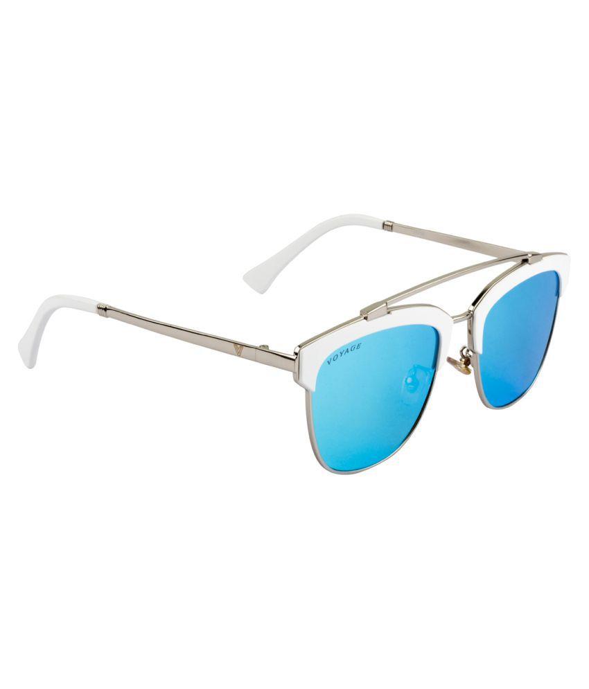 Voyage Blue Panto Sunglasses ( J1010MG1944 )