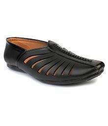 Do Bhai Black Designer Shoe