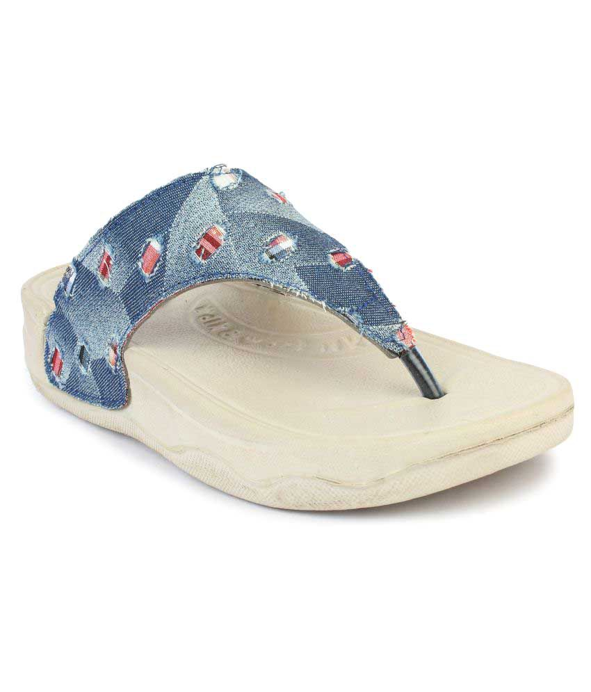 b158efd16 Do Bhai Blue Slippers Price in India- Buy Do Bhai Blue Slippers Online at  Snapdeal
