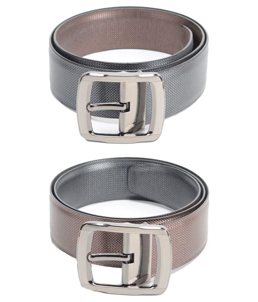 Calvadoss Black PU Formal Belts