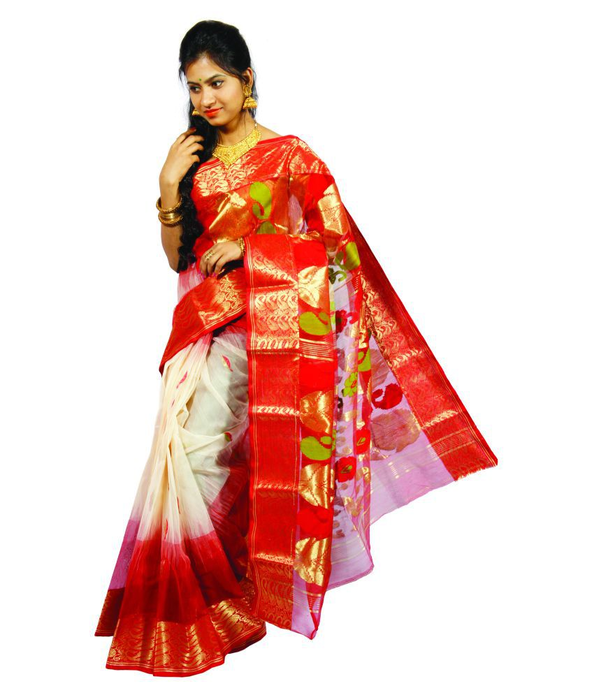 41ee2ed11a Tant Saree Multicoloured Bengal Handloom Saree - Buy Tant Saree  Multicoloured Bengal Handloom Saree Online at Low Price - Snapdeal.com