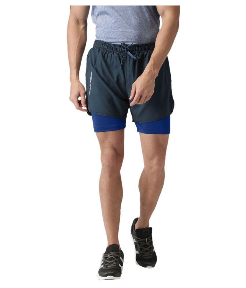 2GO Dare Navy GO Dry Sports Shorts