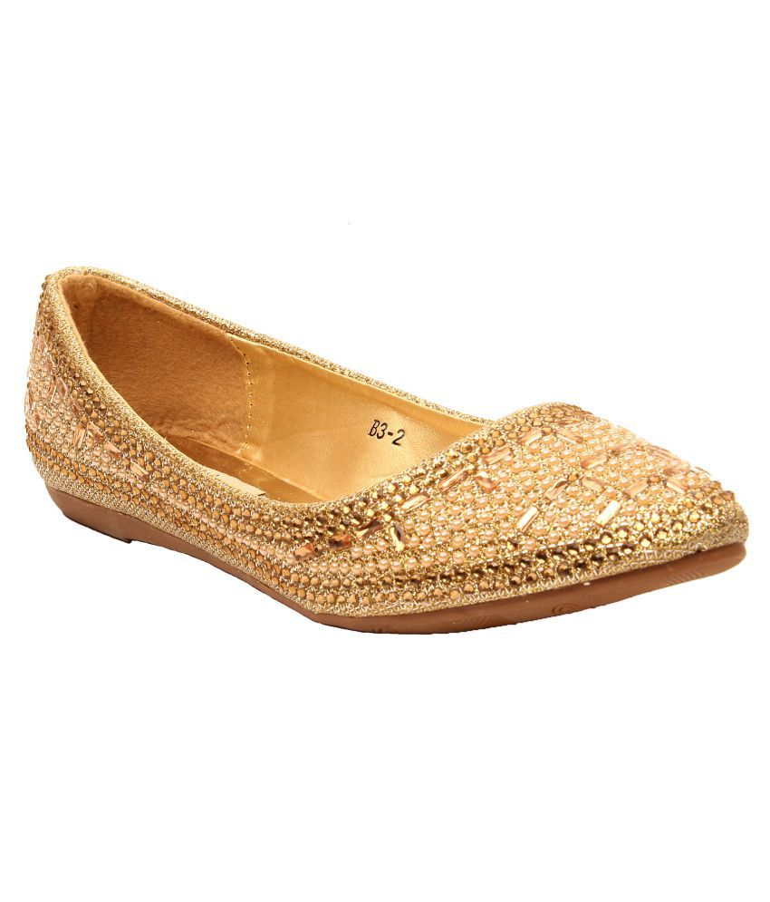 Foot Candy Gold Ballerinas