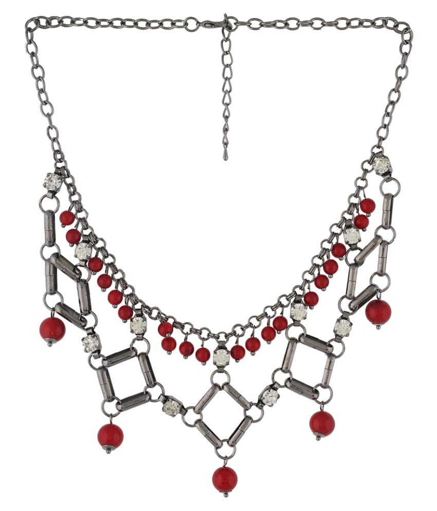 One Stop Fashion Colour Geometrical Design Necklace for Girls and Womens