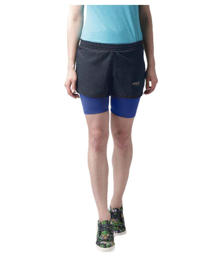 2GO Navy Inbuilt Tights Running Short