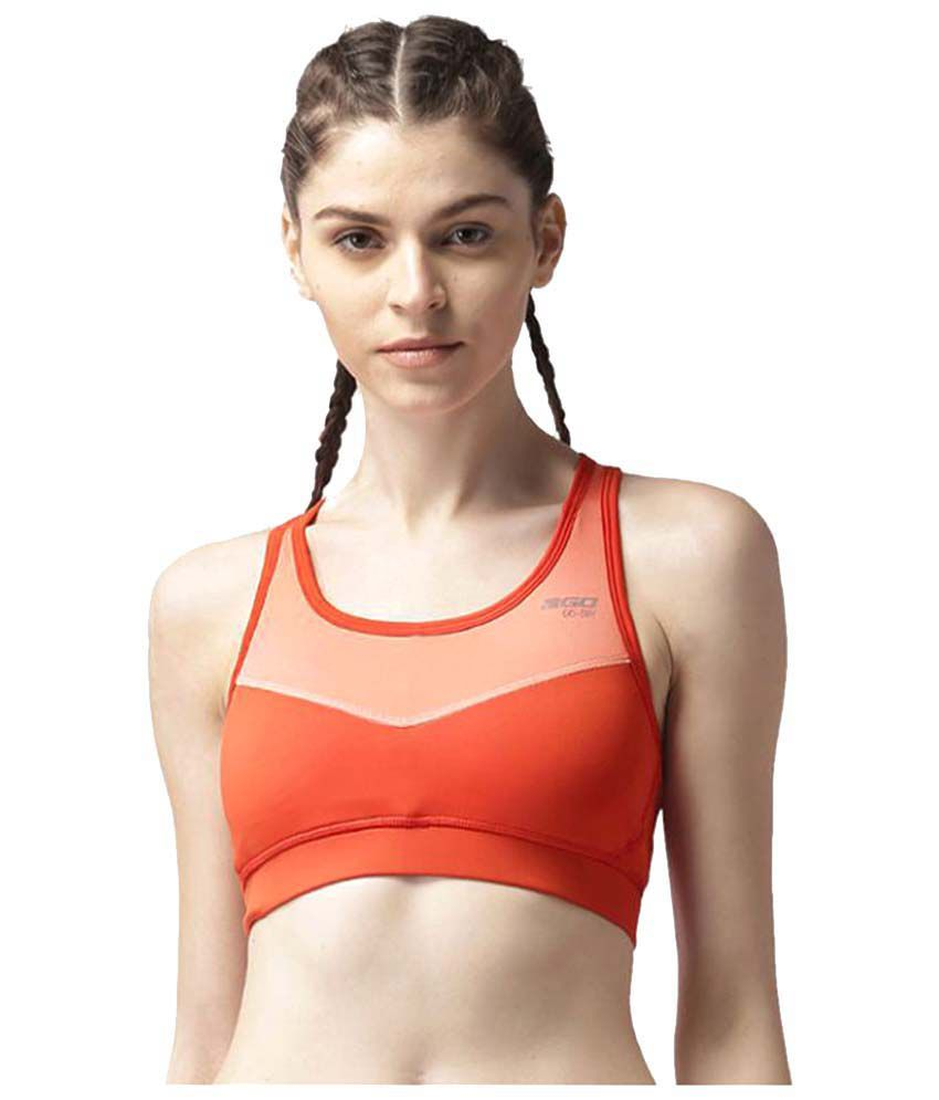2GO Orange Classic Padded Sports Bra