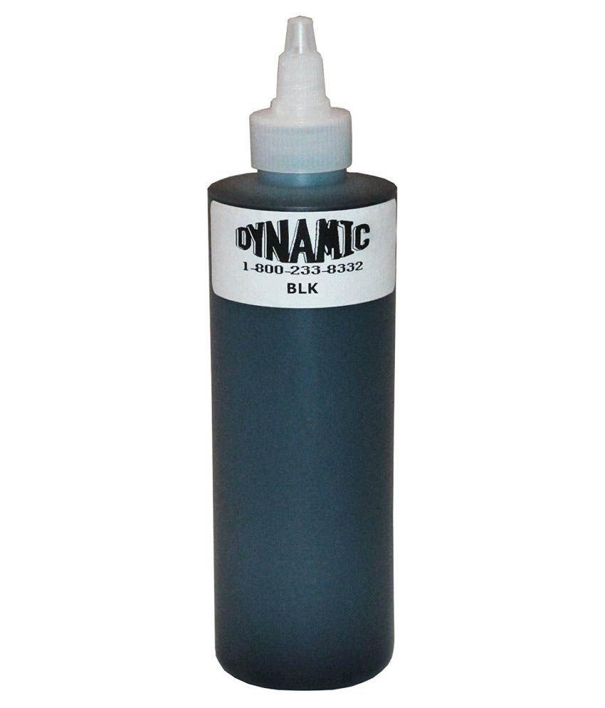 Dynamic Professional Tattoo Ink Black (8 oz): Buy Dynamic ...