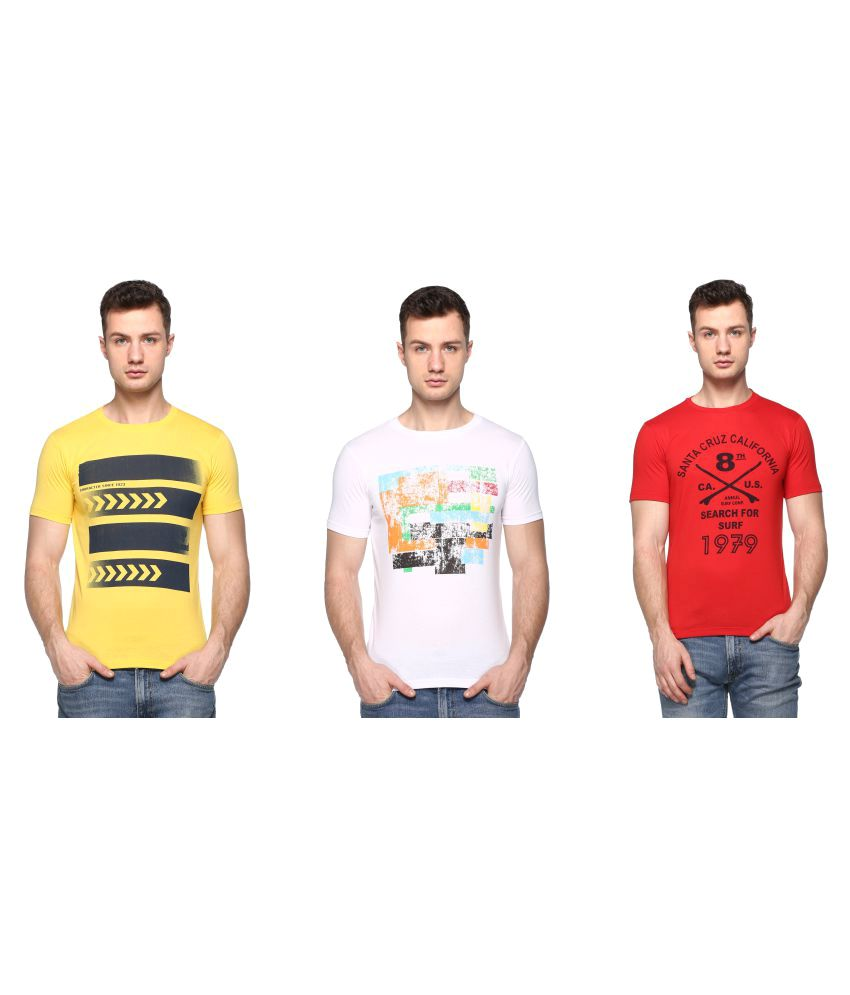 In Love Multi Round T-Shirt Pack of 3