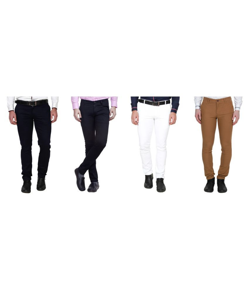 Winsome Deal Multi Slim Flat Chinos