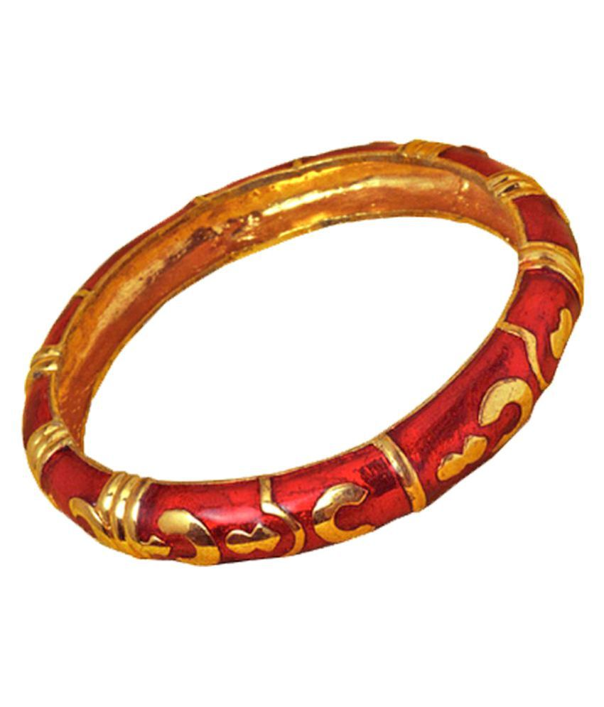 Zodiac Power Ring Red Alloy Kada