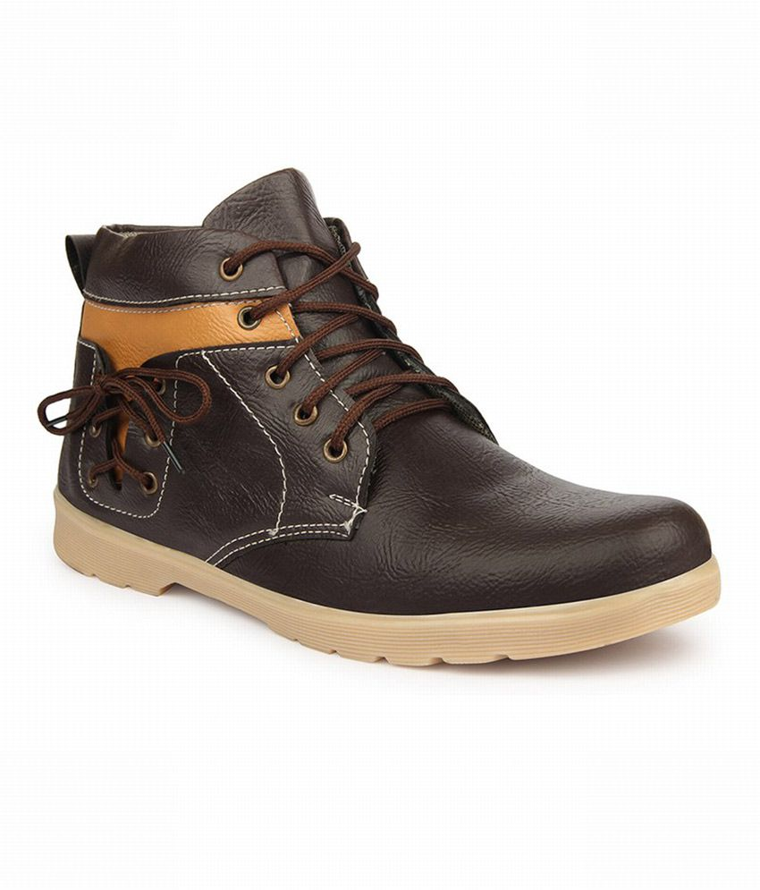 Zapatoz Brown Boots For Men