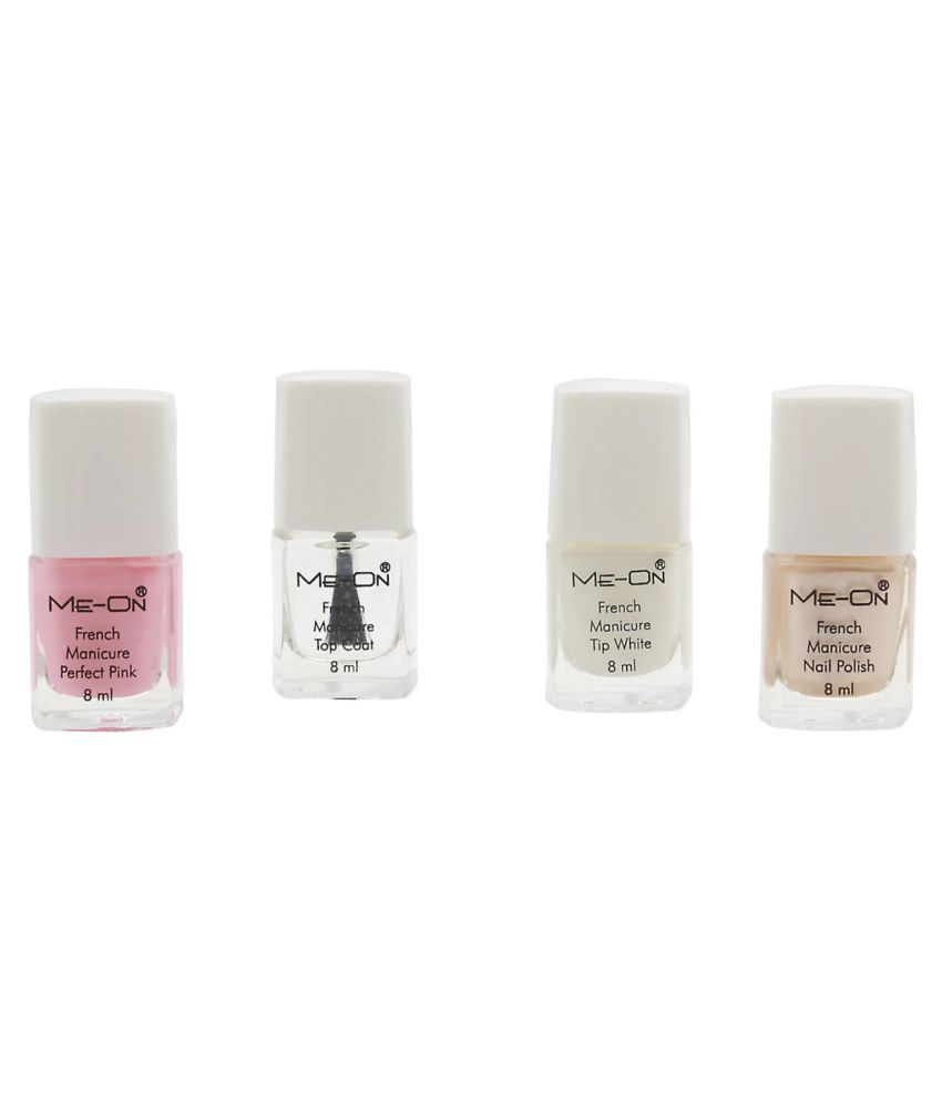 ADS Nail Polish Kit ME ON FRENCH MANICURE Natural 10 ml Pack of 4 ...
