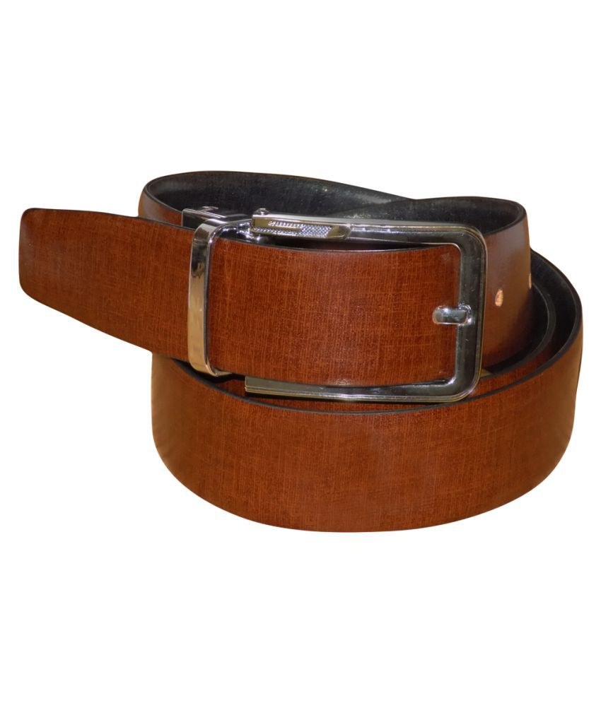 Kan Black Leather Casual Belts