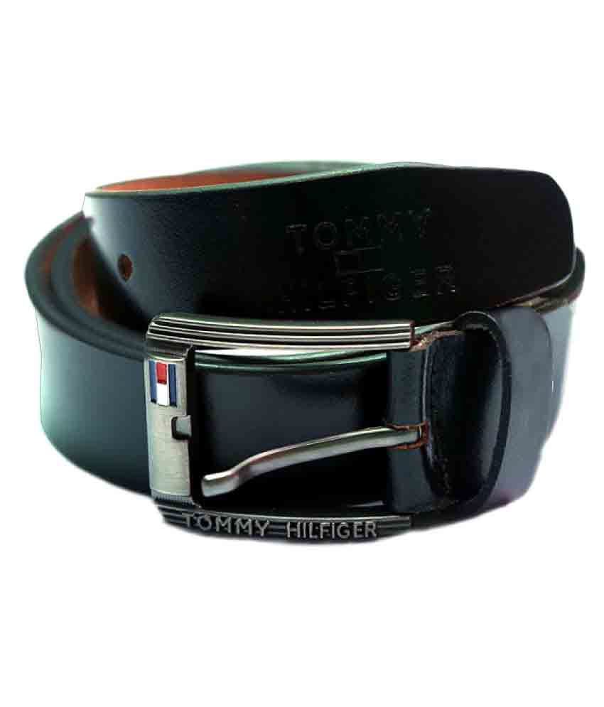 Tommy Hilfiger Black Leather Casual Belts