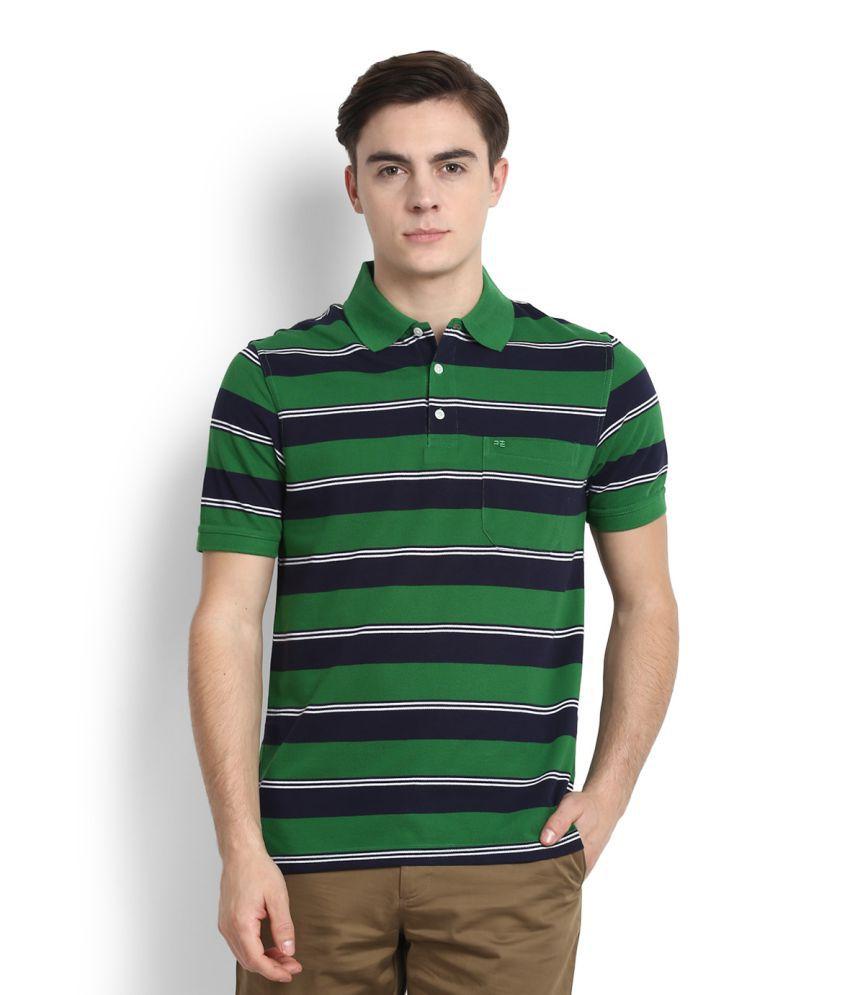 Peter England Green Polo T Shirt