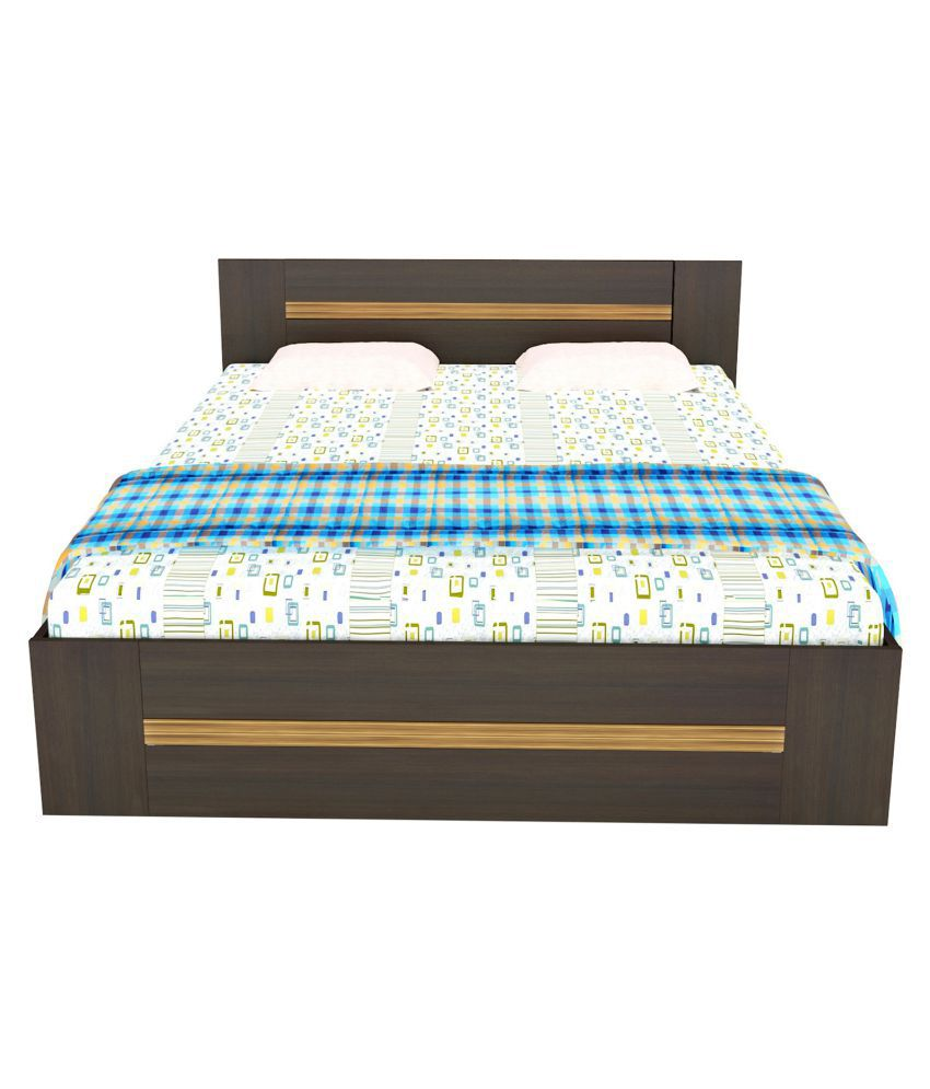 white cedar king size storage bed buy white cedar king size storage bed online at best prices. Black Bedroom Furniture Sets. Home Design Ideas