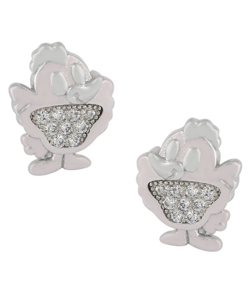 Sogani Jewellers 92.5 Silver Cubic zirconia Studs