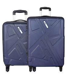 Safari Traffik Anti Scratch Combo Set of 2 Purple Small, Medium Hard Luggage Trolley Bag