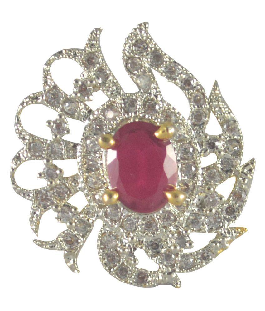 Rejewel Multicolour Stone AD Ring