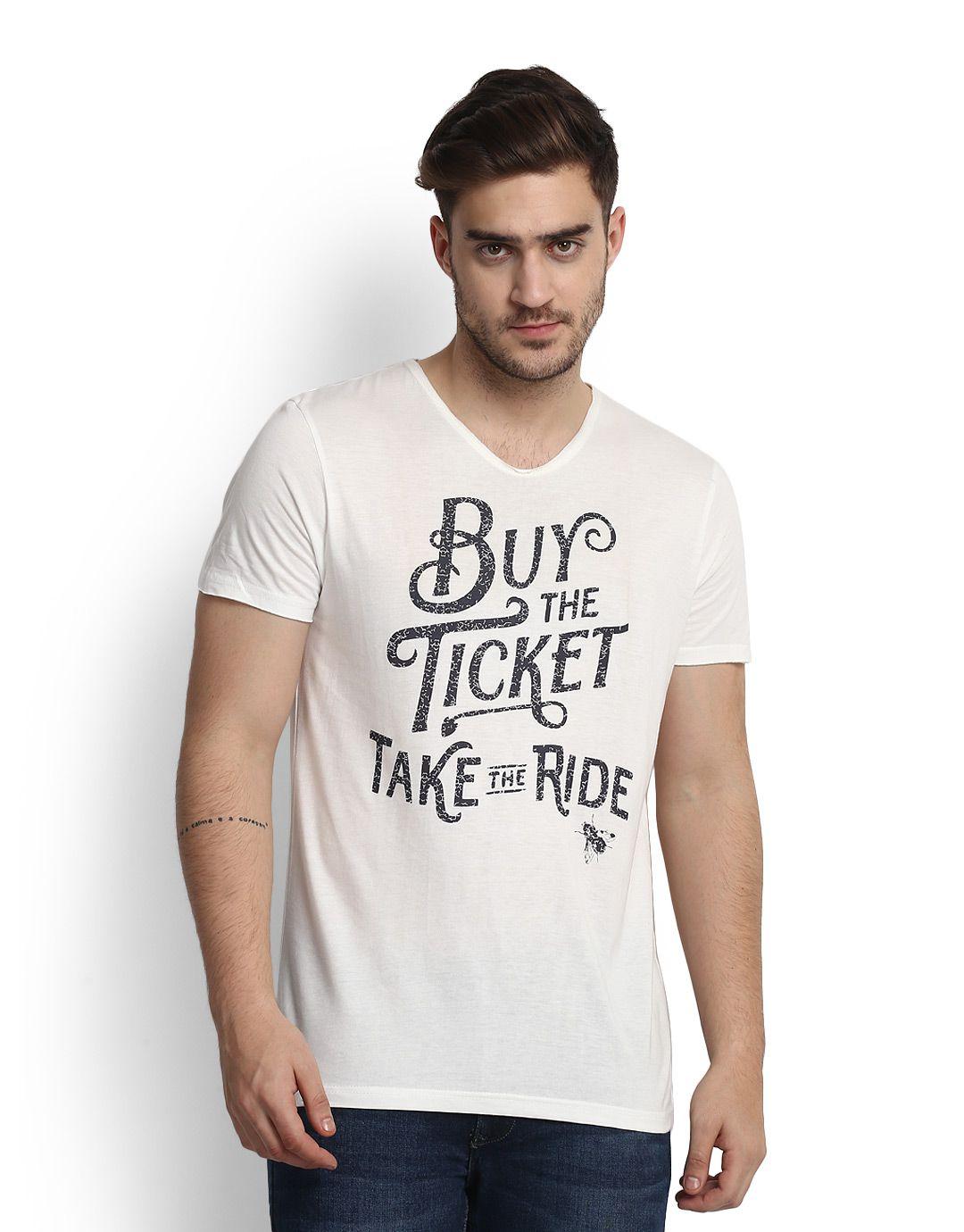 People White V-Neck T-Shirt