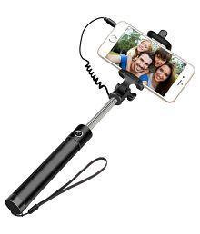 Shutterbugs Aux Wire Selfie Stick - Black