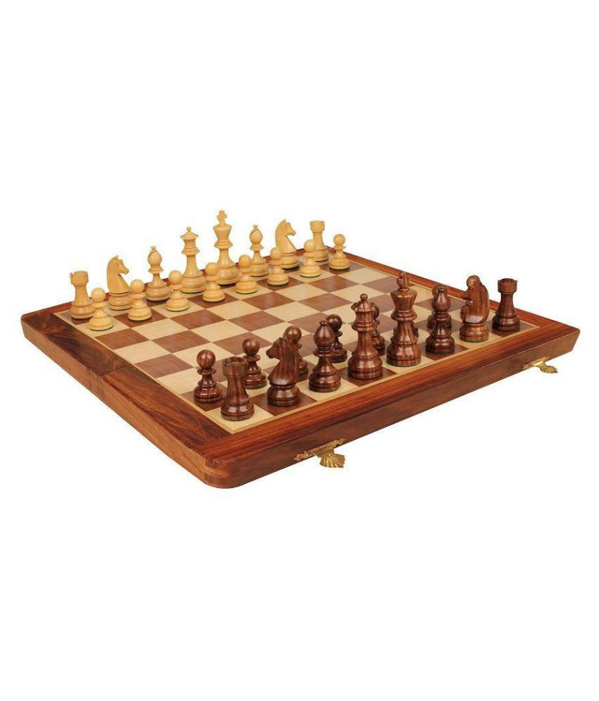 CRUZ INTERNATIONAL Wooden Multicolor Chess One Size