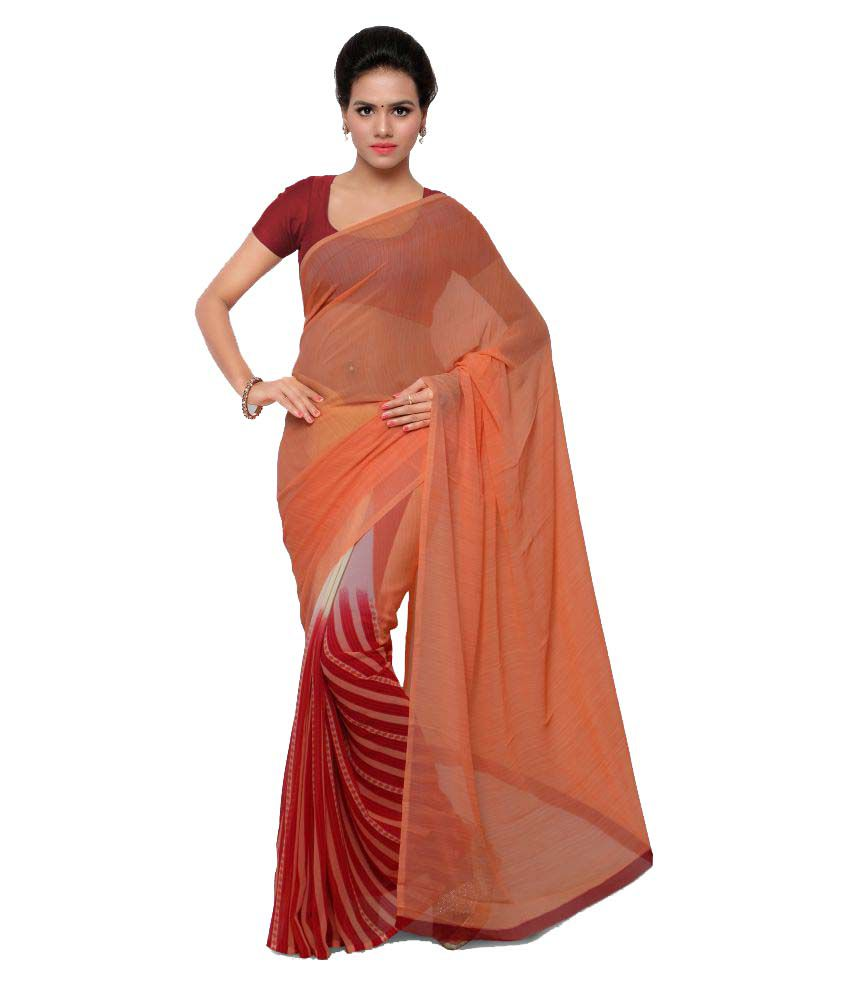 An Ethnic Affair Multicoloured Georgette Saree