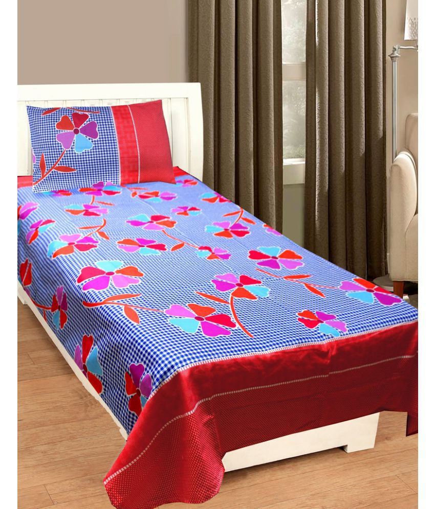bc75de29ead Homefab India Single Poly Cotton Multi 3D Print Bed Sheet available at  SnapDeal for Rs.