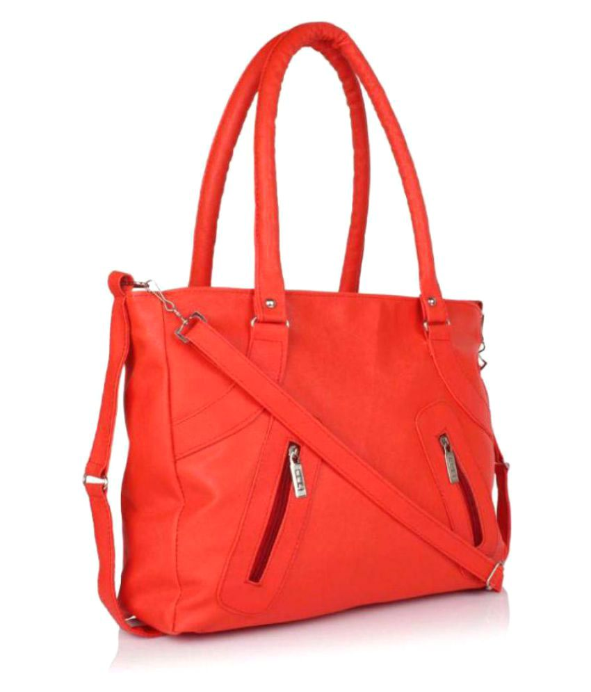 SR Sales Red P.U. Shoulder Bag