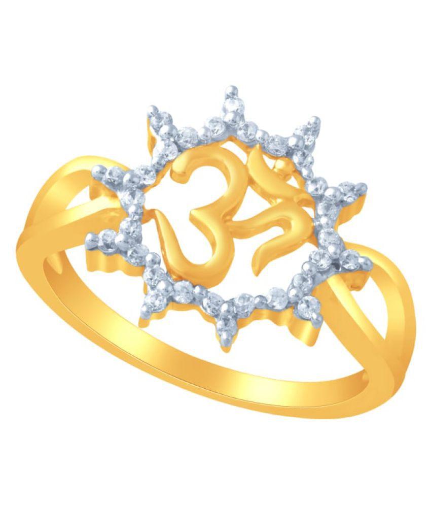 Maya Gold 22k Gold Cubic zirconia Ring
