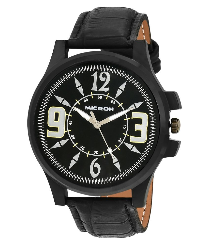 e60d2fc2c Micron Black Round Analog Watch for Men - Buy Micron Black Round Analog  Watch for Men Online at Best Prices in India on Snapdeal
