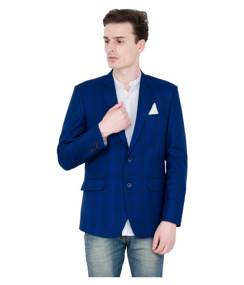 Lorenzini Designs Blue Solid Party Blazers Pack of 2